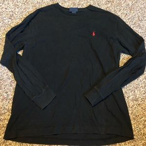 Polo men's black long sleeve T-shirt size small